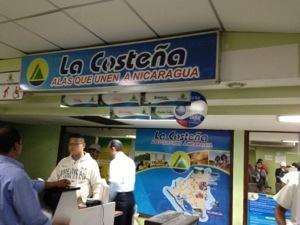 La Costeña's check-in counter