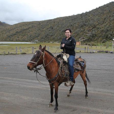 Me on a horse in Cotopaxi, Ecuador