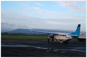 The plane awaits