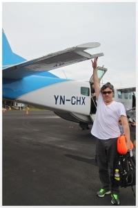 On the runway at Big Corn Island