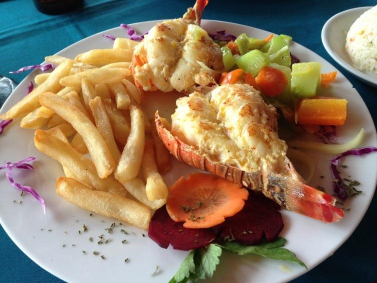 lobster seafood san juan del sur nicaragua