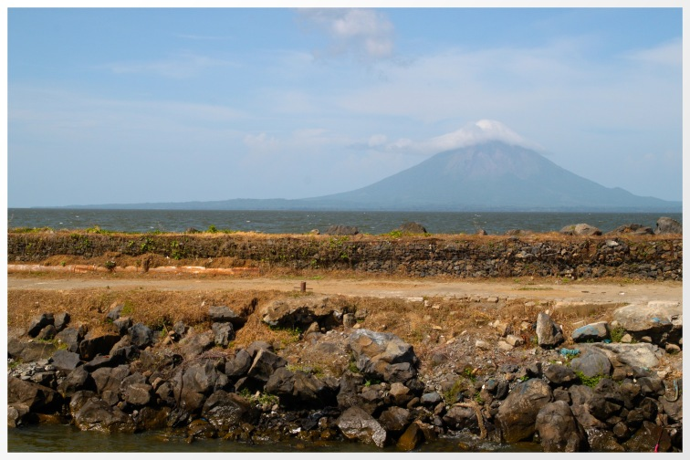 Concepcion volcano from the port at San Jorges, Nicaragua