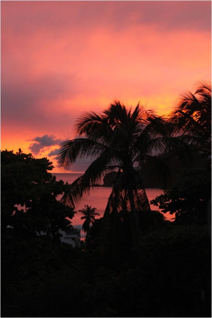 Sunset san juan del sur nicaragua